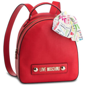 LOVE MOSCHINO ZAINETTO SOFT GRAIN PU ROSSO JC4241PP07KF0500