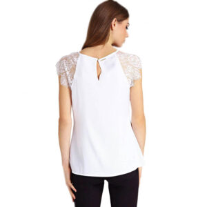 GUESS TOP DONNA MARTINA W91H03 W8IK0 TWHT BIANCO