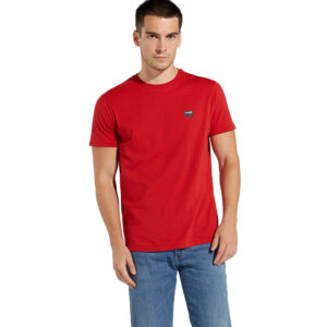 WRANGLER T SHIRT SIGN OFF W7C07D3UU RED