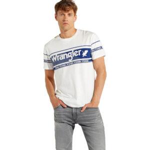 WRANGLER T SHIRT REPEAT W7C17DB02 WHITE