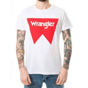 WRANGLER T SHIRT FESTIVAL W7C24FQ12 WHITE