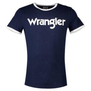 WRANGLER T SHIRT KABEL W7C38D335 NAVY