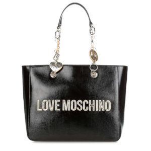 LOVE MOSCHINO BORSA METALLIC PU NERO JC4037PP18LD0000