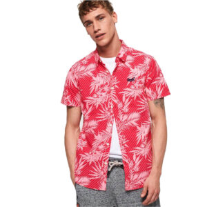 SUPERDRY CAMICIA MM M40103KT RED