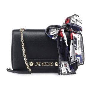LOVE MOSCHINO BORSA GRAIN PU NERO JC4219PP08KD0000