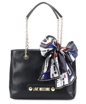 LOVE MOSCHINO BORSA GRAIN PU NERO JC4220PP08KD0000
