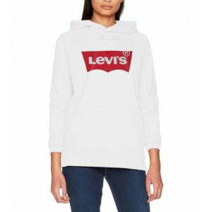 Levi's® FELPA CAPPUCCIO DONNA 35946 0010 WHITE