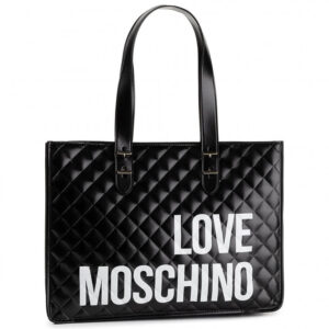 LOVE MOSCHINO BORSA QUILTED NAPPA PU NERO JC4210PP08KB0000