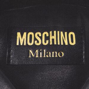 MOSCHINO FOULARD DONNA PURA SETA M2054 03509 001 NERO