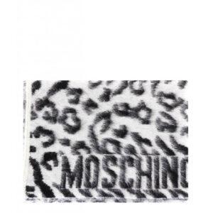 MOSCHINO PONCHO DONNA M2109 30644 002 BIANCO NERO