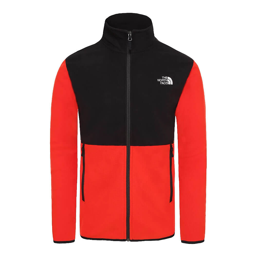 The NORTH FACE 100 Glacier Full Zip Uomo Giacca in pile BLACK
