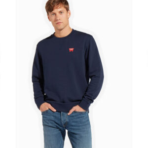 WRANGLER FELPA UOMO SIGN OFF CREW NAVY W6589HA35