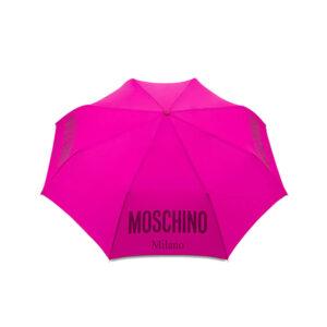 MOSCHINO OMBRELLO DONNA 8021 NEW METAL LOGO MINI AOC FUCSIA