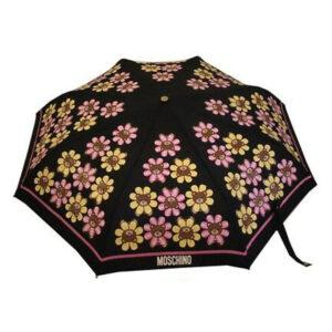 MOSCHINO OMBRELLO DONNA 8126 FLOWER BEAR NERO