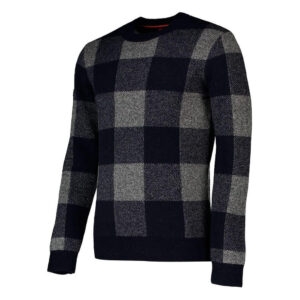 SUPERDRY PULL ACADEMY CHECK CREW M6100031A NAVY