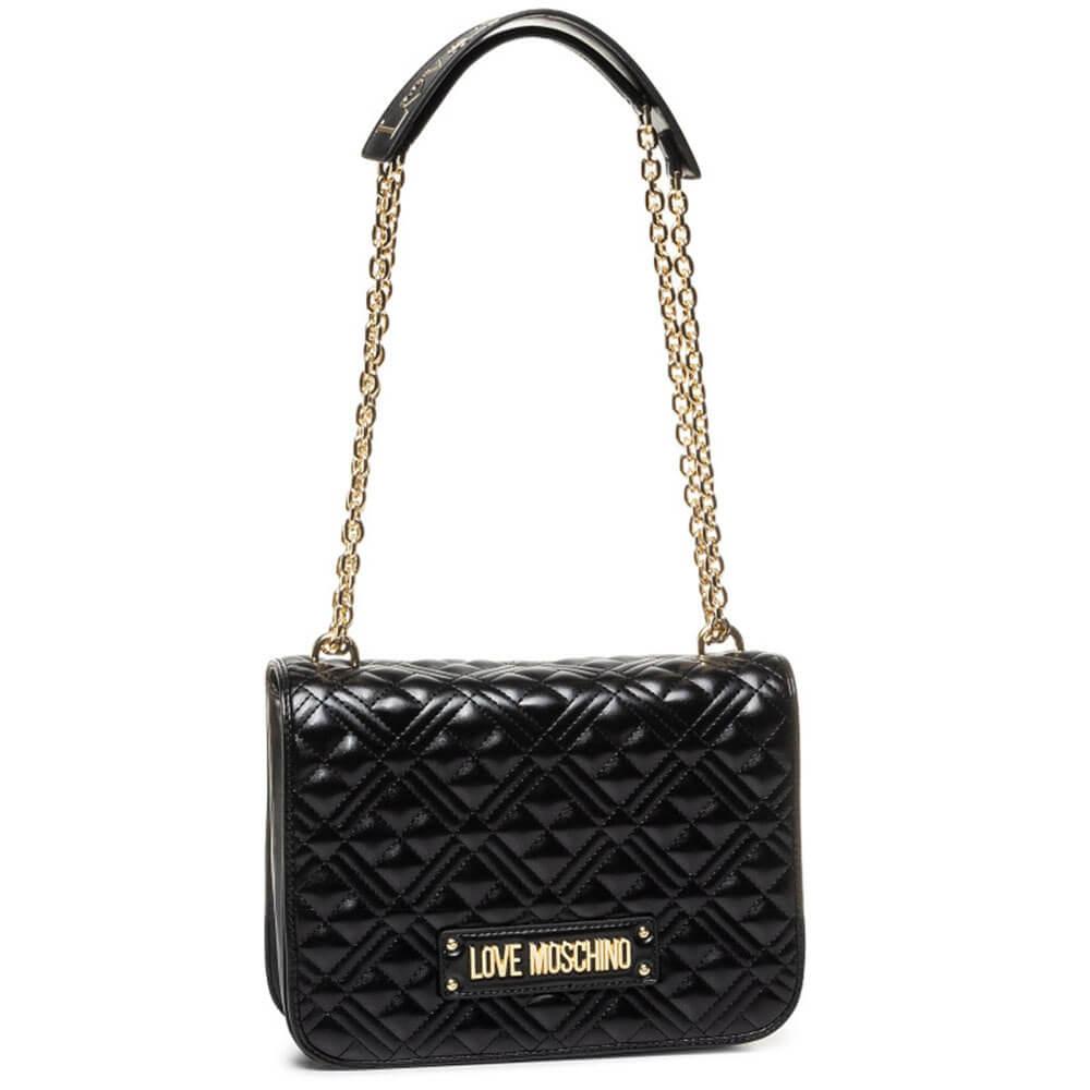 Moschino Love Moschino Femmes matelass/é sac /à dos en cuir Noir Une Taille