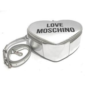 LOVE MOSCHINO BORSA METALLIC NAPPA PU ARGENTO JC4222PP0AKD0902