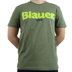 BLAUER UOMO T SHIRT 20SBLUH02170 4547 694 VERDE