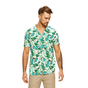 GUESS CAMICIA UOMO M02H35 WCT20 PFF0 BIANCO FLORAL