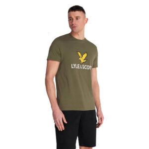 LYLE & SCOTT LOGO t shirt TS1020V Z801 VERDE