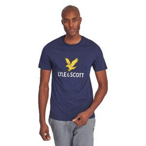 LYLE & SCOTT LOGO t shirt TS1020V Z99 NAVY