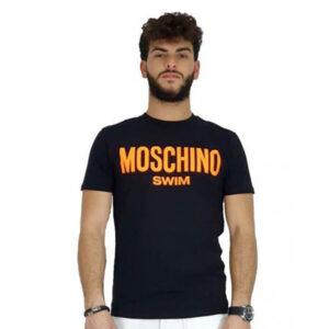 MOSCHINO T SHIRT UOMO A1903 2303 5125 NERO ARANCIO