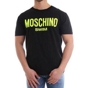 MOSCHINO T SHIRT UOMO A1903 2303 5126 NERO GIALLO