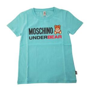 MOSCHINO T SHIRT DONNA A1904 9003 0301 TURCHESE