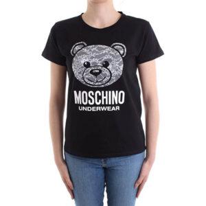 MOSCHINO T SHIRT DONNA A1913 9019 0555 NERO