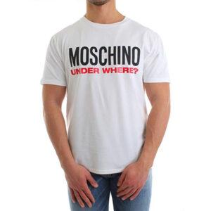 MOSCHINO T SHIRT UOMO A1915 8103 1 BIANCO