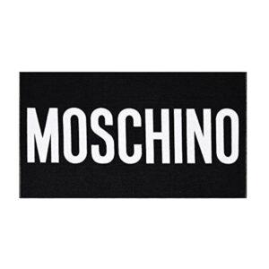 MOSCHINO TELO MARE A7405 5949 555 NERO BIANCO