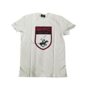 BEVERLY HILLS POLO CLUB T SHIRT G/C M/M CON STAMPA BHPC6288 WHITE