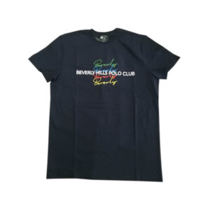 BEVERLY HILLS POLO CLUB T SHIRT G/C M/M CON STAMPA BHPC6305 BLUE
