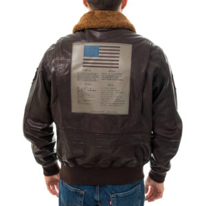 TOP GUN MAVERICK BOMBER PELLE 53313 169 BROWN