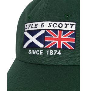 LYLE & SCOTT HERITAGE PATCH BASEBALL CAP JADE GREEN Z597