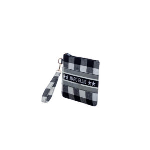 MARC ELLIS CLUTCH BABY CHECK BLACK WHITE