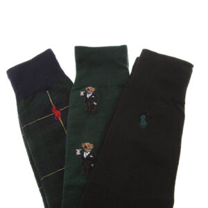POLO RALPH LAUREN 3 PACK CALZA UOMO ONE SIZE COL ASS 449824754001