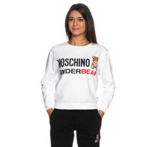 MOSCHINO FELPA DONNA A1709 9006 1 BIANCO