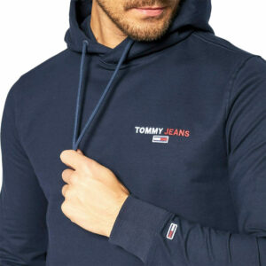 TOMMY JEANS CHEST GRAPHIC HOODIE DM0DM08730C87 TWILIGHT NAVY