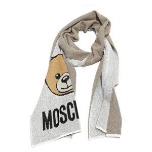 MOSCHINO SCIARPA MAGLIA POLIESTERE ARGENTO 30666 M2345 001