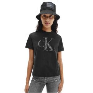 CALVIN KLEIN T SHIRT DONNA J20J215605 BEH BLACK