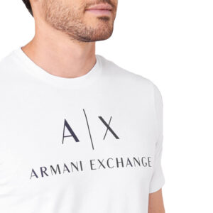 ARMANI EXCHANGE T SHIRT UOMO 8NZTCJ Z8H4Z 1100 WHITE