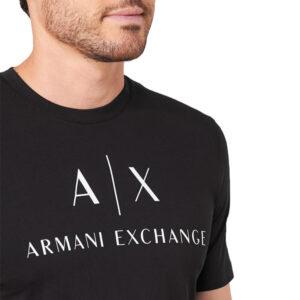 ARMANI EXCHANGE T SHIRT UOMO 8NZTCJ Z8H4Z 1200 BLACK