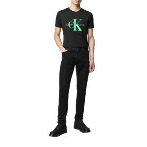 CALVIN KLEIN T SHIRT UOMO J30J317065BEH BLACK-GREEN