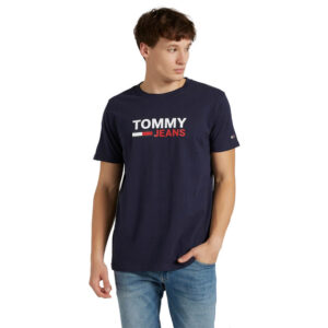 TOMMY JEANS T SHIRT CORP LOGODM0DM10214C87 NAVY