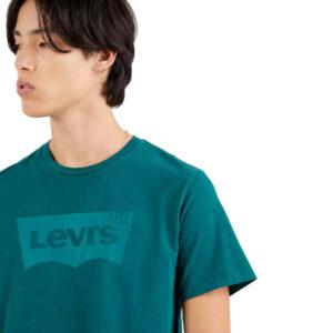 LEVI'S T SHIRT UOMO HOUSEMARK GRAPHIC TEE 22489 0325 VERDE