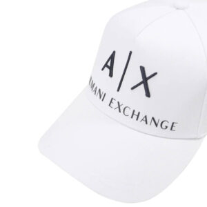 ARMANI EXCHANGE CAPPELLO BASEBALL UNISEX 954039 CC513 00812 WHITE BLU NAVY