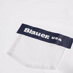 BLAUER T SHIRT MANICA CORTA 21SBLUH02136 4547 100 BIANCO