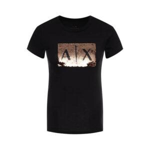 ARMANI EXCHANGE T SHIRT DONNA 8NYTDL YJ73Z 6231 BLACK GOLD