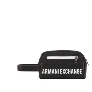 ARMANI EXCHANGE WOVEN BEAUTY CASE UOMO 958410 1P007 42520 BLACK WHITE